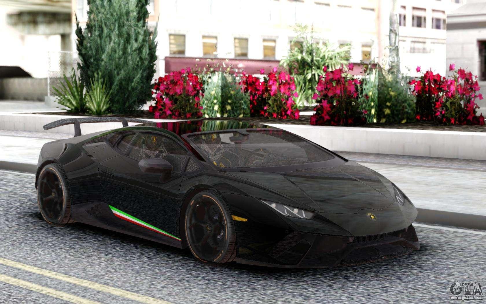 Lamborghini Huracan Performante Black for GTA San Andreas