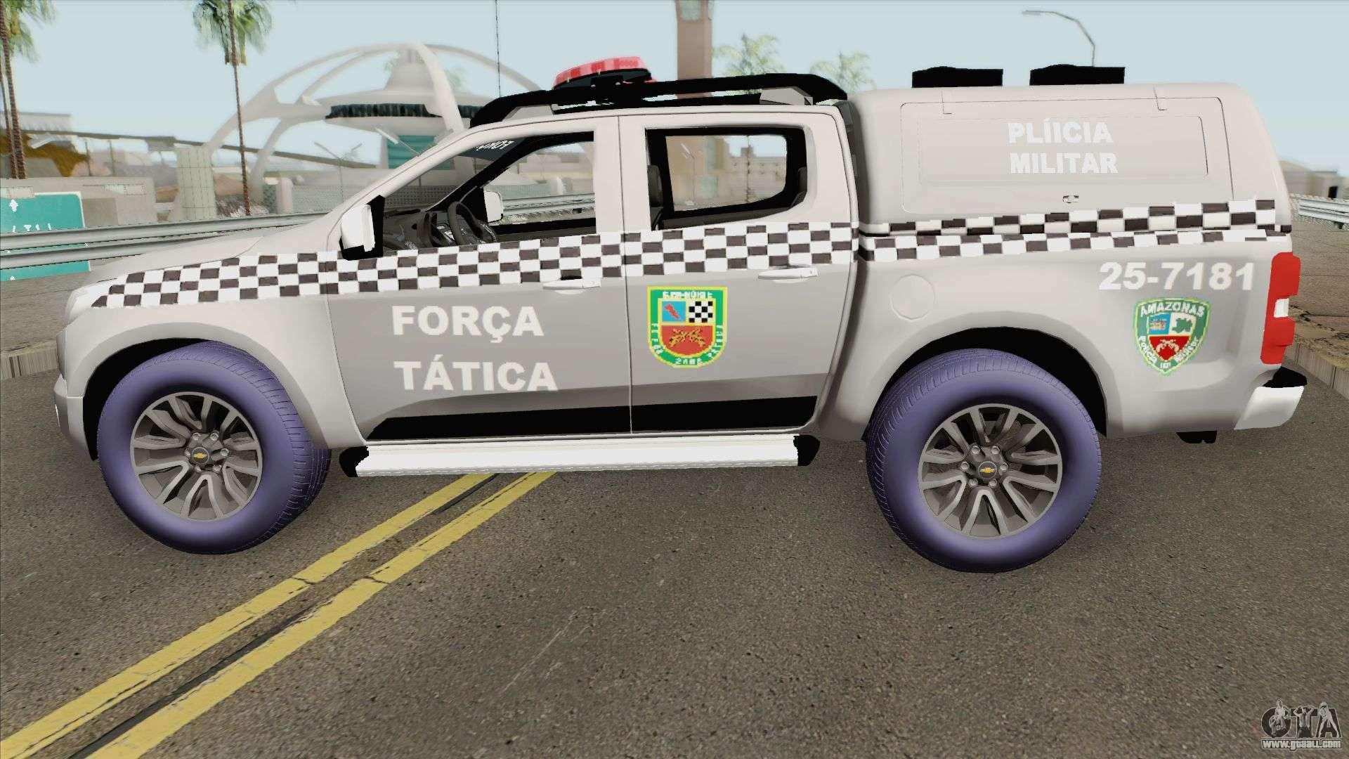 Chevrolet S-10 2015 (Forca Tatica Nova Potagem) For GTA