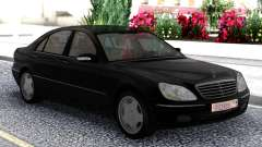 Mercedes-Benz S600 W220 Black for GTA San Andreas