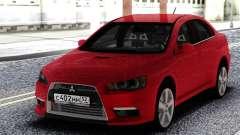 Mitsubishi Red Lancer 10 for GTA San Andreas