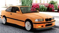 BMW E36 Coupe Orange for GTA San Andreas