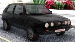 Volkswagen Golf II Black for GTA San Andreas
