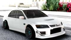 Mitsubishi White Lancer Evo 9 for GTA San Andreas