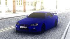 Nissan Skyline R34 Blue Sport for GTA San Andreas