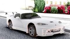 Dodge Viper GTS White for GTA San Andreas