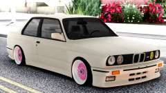 BMW E30 White Sedan for GTA San Andreas
