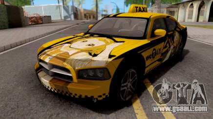 Dodge Charger SRT8 Taxi Itasha for GTA San Andreas