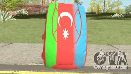 New Parachute (Azerbaijan Flag) for GTA San Andreas