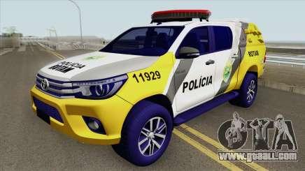 Toyota Hilux SR5 2017 (ROTAM PMPR) for GTA San Andreas
