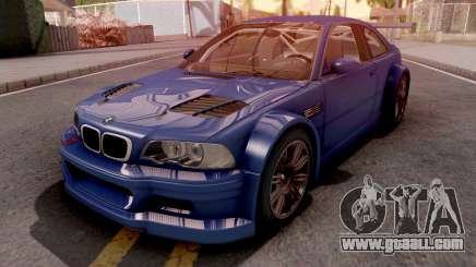 BMW M3 E46 GTR Blue for GTA San Andreas