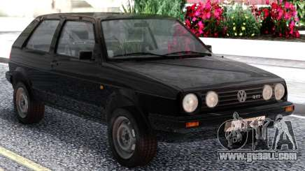 Volkswagen Golf II Black for GTA San Andreas