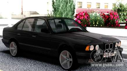 BMW 525i E34 1992 Black Classic for GTA San Andreas