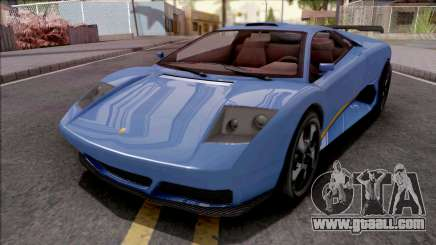 GTA V Pegassi Infernus Blue for GTA San Andreas