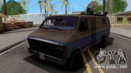 Dodge Ram Van 1989 San News for GTA San Andreas