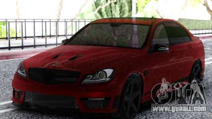 Mercedes-Benz C63 AMG Cherry for GTA San Andreas