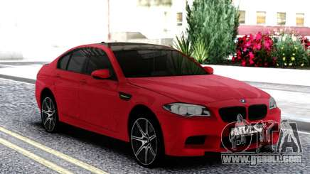 BMW M5 F10 Sedan Red for GTA San Andreas