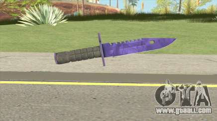 CS:GO M9 Bayonet (Doppler Sapphire) for GTA San Andreas