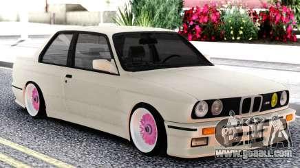 BMW E30 White Sedan for GTA San Andreas