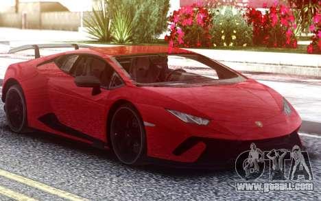 Lamborghini Huracan Performance 2018 for GTA San Andreas