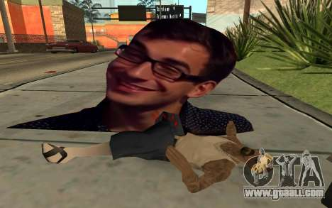 Cardboard flying smiling man for GTA San Andreas