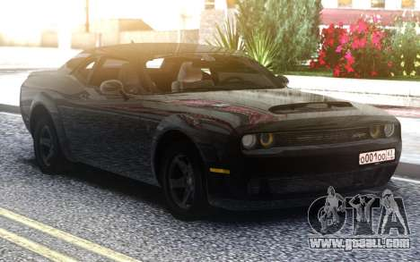Dodge Challenger SRT Demon for GTA San Andreas