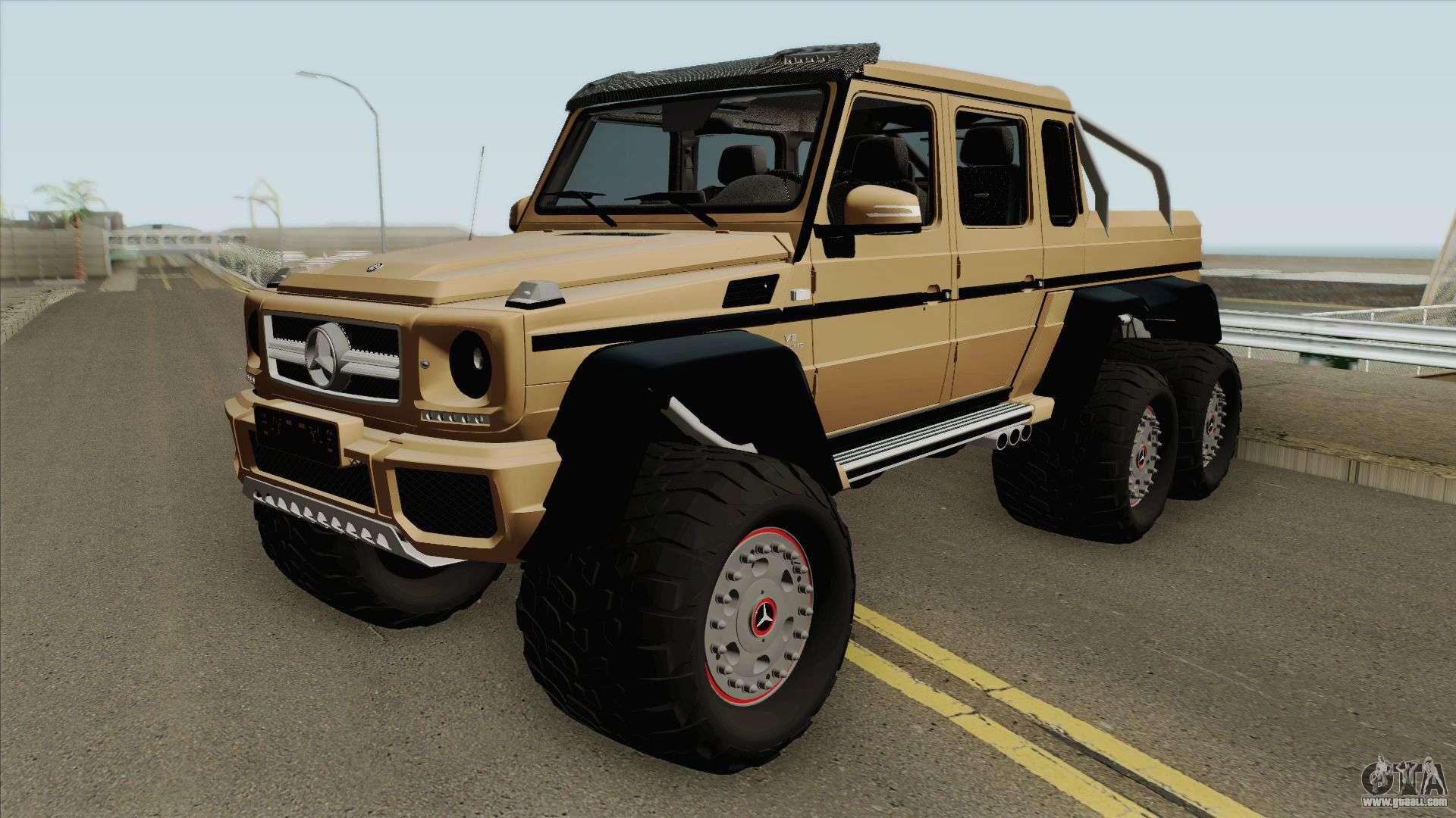 Mercedes Benz G63 Amg 6x6 Hq For Gta San Andreas