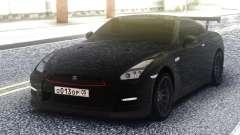 Nissan GT-R 35 Black for GTA San Andreas