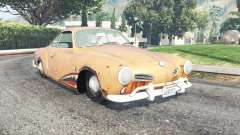 Volkswagen Karmann-Ghia (Typ 14) for GTA 5