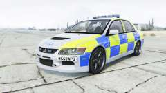 Mitsubishi Lancer Evolution VIII British Police for GTA 5