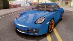 Porsche Cayman S Blue for GTA San Andreas