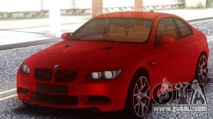 BMW M3 E92 Red Original for GTA San Andreas