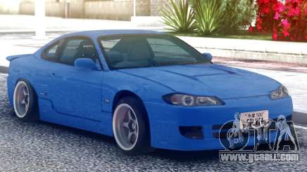 Nissan Silvia S15 Original Blue for GTA San Andreas