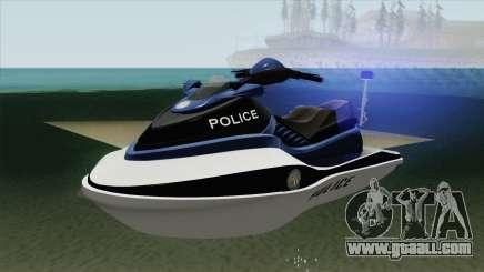 Seashark Police GTA V for GTA San Andreas