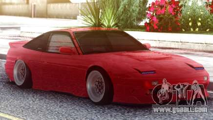 Nissan 180SX Red for GTA San Andreas