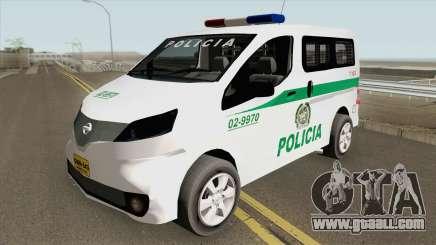 Nissan NV200 (Patrullas Colombianas) for GTA San Andreas