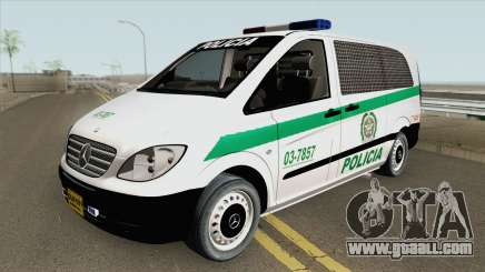 Mercedes-Benz Vito (Patrullas Colombianas) for GTA San Andreas
