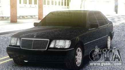 Mercedes-Benz S600 W140 Black for GTA San Andreas