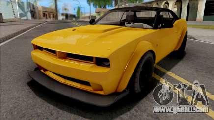 GTA V Bravado Gauntlet Hellfire Stock IVF for GTA San Andreas