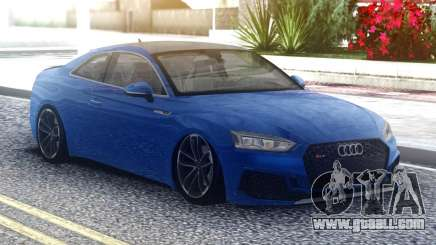 Audi RS5 Blue Coupe for GTA San Andreas