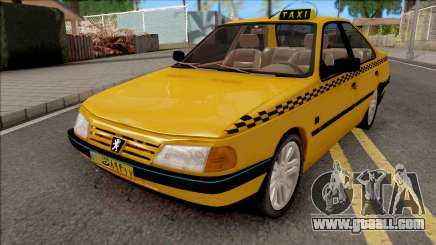 Peugeot 405 GLX Taxi v4 for GTA San Andreas