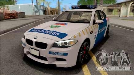 BMW M5 F10 Magyar Rendorseg for GTA San Andreas