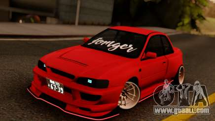 Subaru Impreza 22B Sport Red for GTA San Andreas