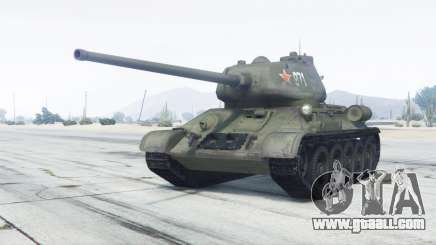 T-34-85 green color for GTA 5