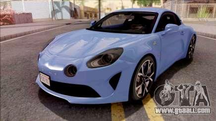 Alpine A110 2017 for GTA San Andreas