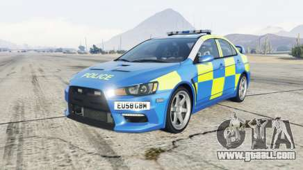 Mitsubishi Lancer Evolution X Essex Police for GTA 5