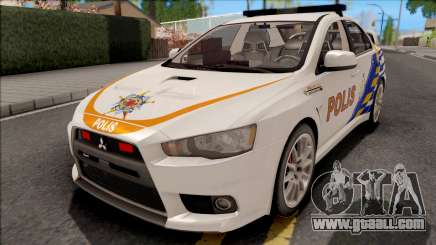 Mitsubishi Lancer Evolution X PDRM White for GTA San Andreas