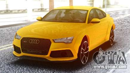 Audi RS7 Yellow for GTA San Andreas
