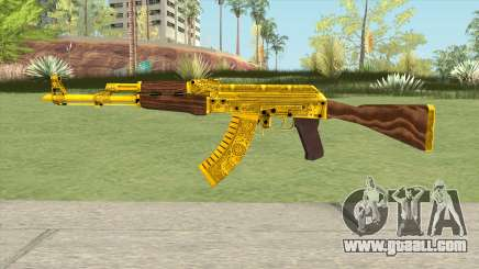 AKM Gold Cartel Skin for GTA San Andreas