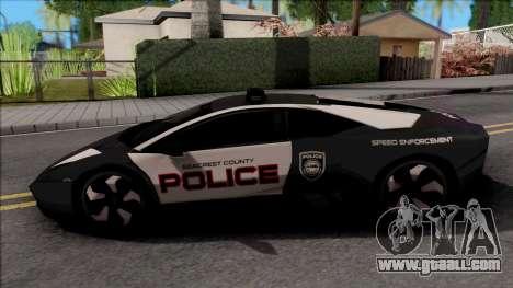 Lamborghini Reventon Police for GTA San Andreas