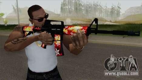 M4A1 (Galaxy Stars Fire Skin) for GTA San Andreas
